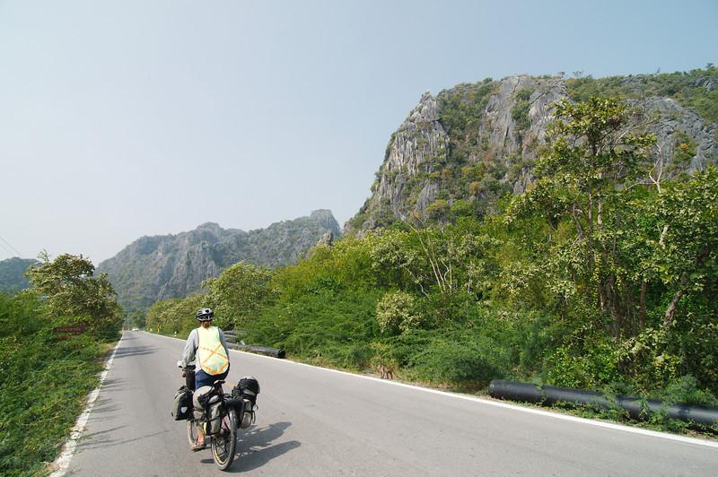 The limestone formations around Prachuap Khiri Khan
