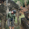 Exploring Kamphaeng Phet Historical Park (we had the place all to ourselves)