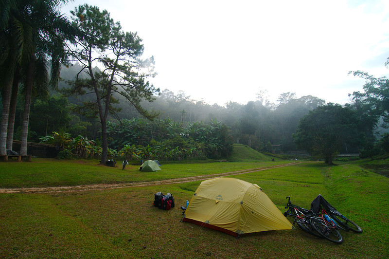 Our secluded campsite near Doi Muser