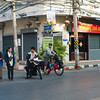Waiting for a break in traffic in Nakhon Sawan
