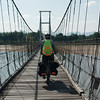Crossing the river outside Tak on a very rickety bridge