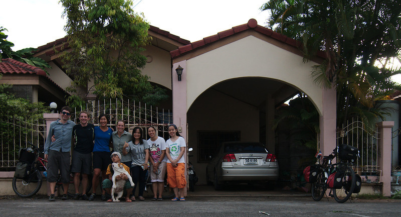 With the whole family at Yun's place