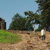 Yann contemplating life at Wat Saphan Hin, Sukhothai Historical Park