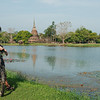 Wat Sa Si across the water, Sukhothai Historical Park