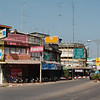 Downtown Sukhothai, pretty much every Thai city we've been in looks like this