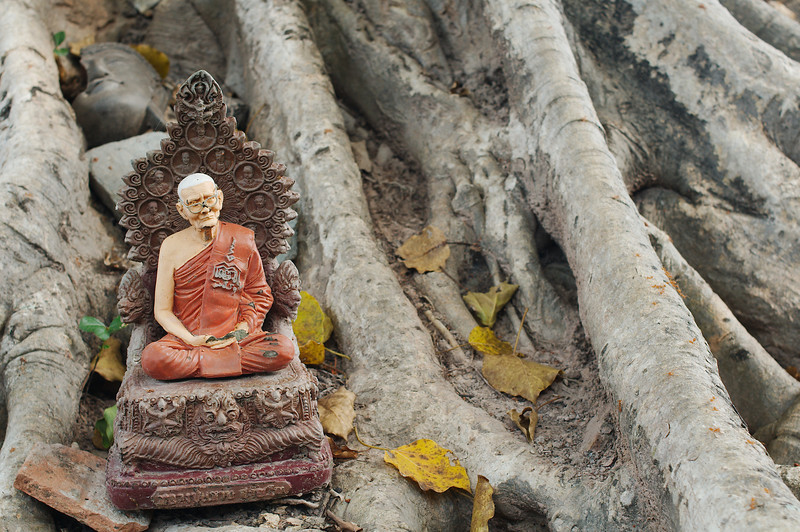 Small altar on a sacred tree at Wat Si Sawai, Sukhothai Historical Park