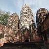 Khmer-style Wat Si Sawai, Sukhothai Historical Park