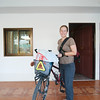 Emilie heading to the post office to send home 4kg of excess baggage!