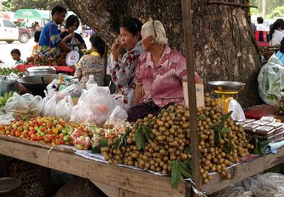 Fruit selling along the roadside