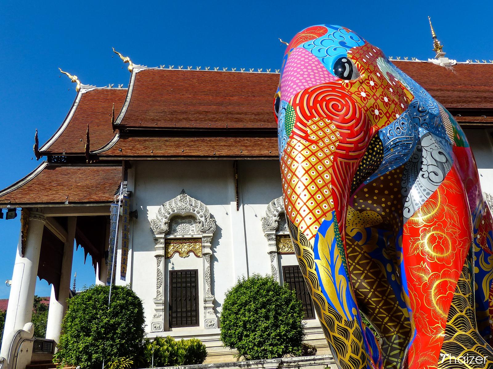 Elephant Parade at Wat Chedi Luang, Chiang Mai