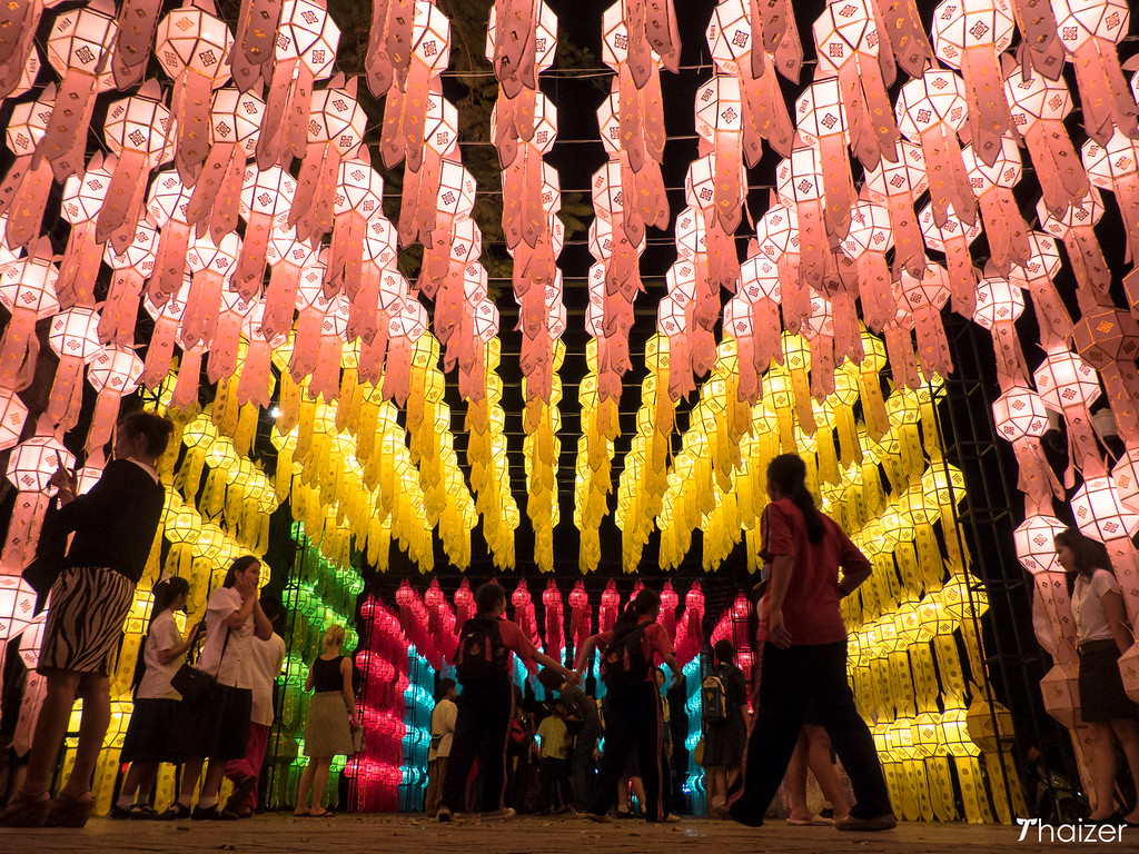 Yi Peng lantern decorations, Chiang Mai