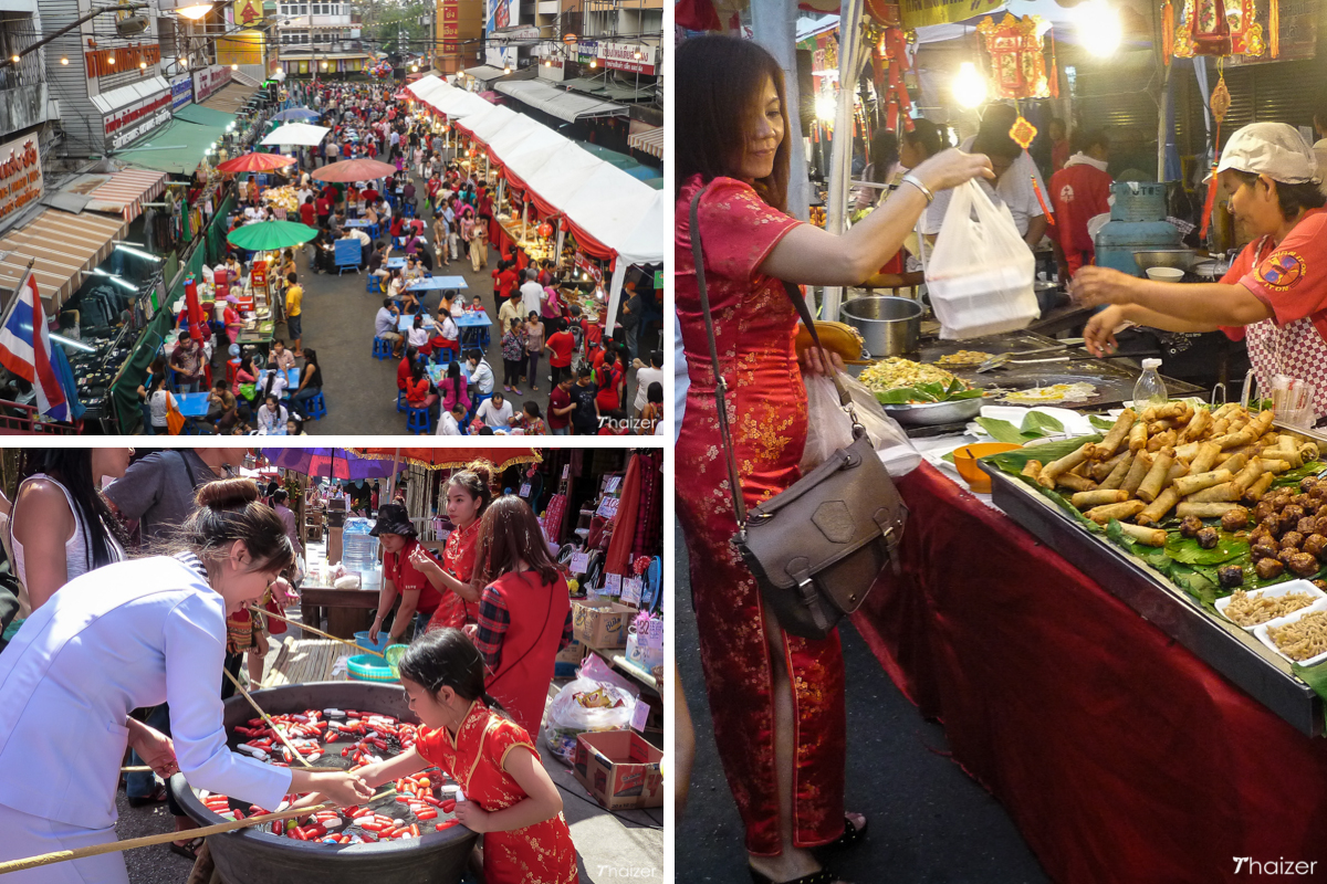 street festival and food stalls