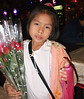 Girl selling flowers, Chiang Mai, December 2006