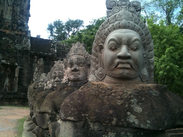 Statues at Angkor Thom, Angkor, Cambodia  (image credit: Cassie Whittell)