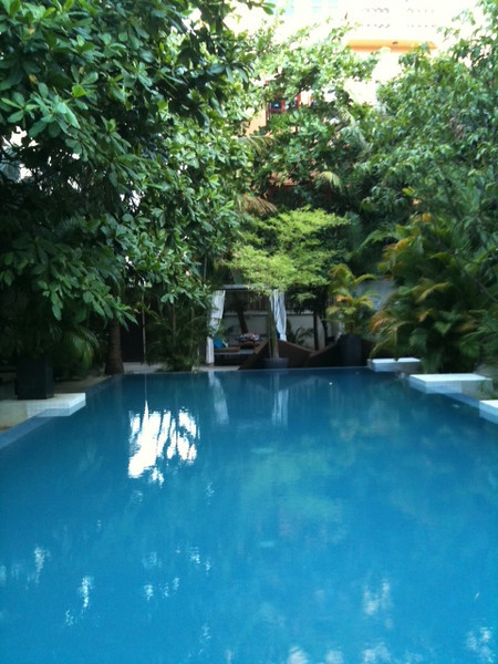 Blue Lime Hotel swimming pool, Phnom Penh, Cambodia