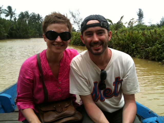 Cassie and Brad, somewhere down the Mekong