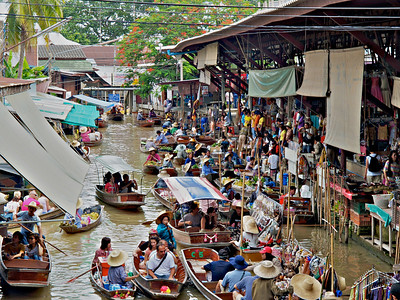 Floating Market about 2 hours from Bangkok