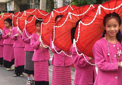 Flower Festival Parade in Chiang Mai