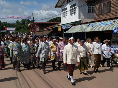 Marching from the Shammans house to the Temple