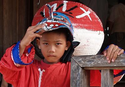Young Thai at the Ghost Festival in Dan Sai