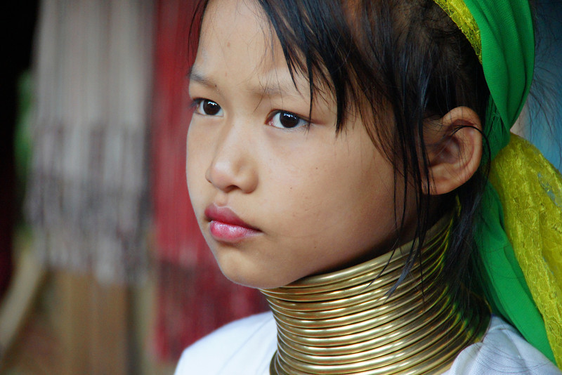 "A girl from the long neck Karen tribe - Chiang Rai, Thailand.  To view my gallery from Thai Hill Tribes click the photo. <a href=""http://nomadicsamuel.com"">http://nomadicsamuel.com</a>"