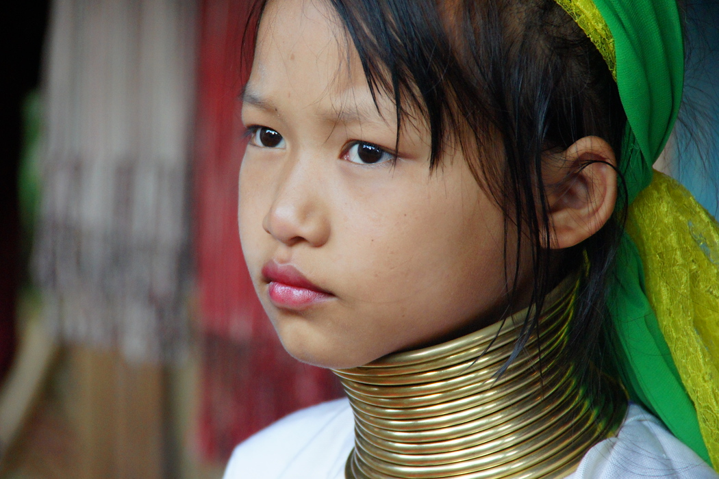 A girl from the long neck Karen tribe - Chiang Rai, Thailand.  To view my gallery from Thai Hill Tribes click the photo.