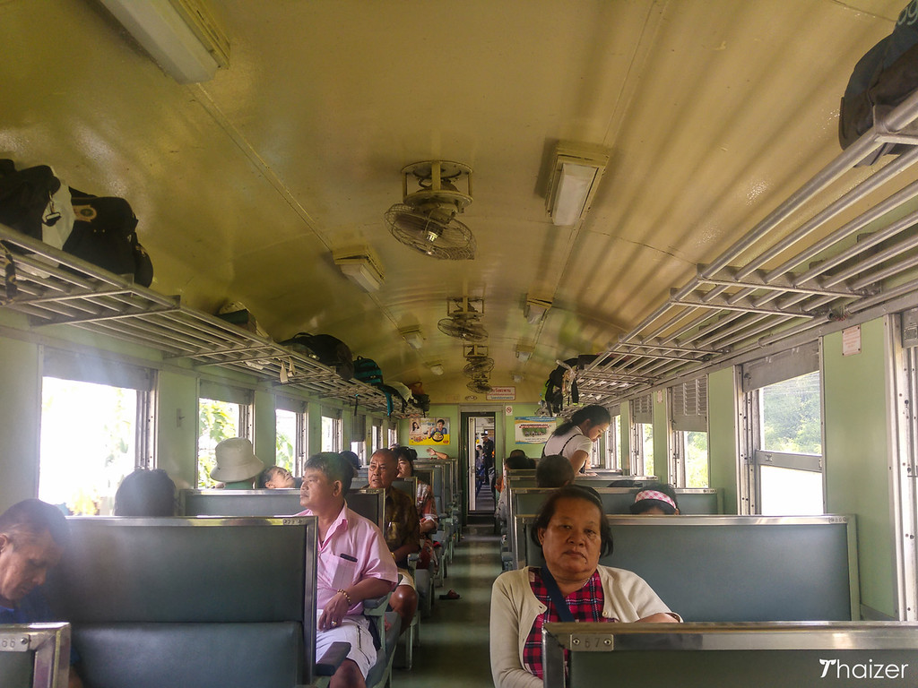 third class carriage Bangkok to Hua Hin train