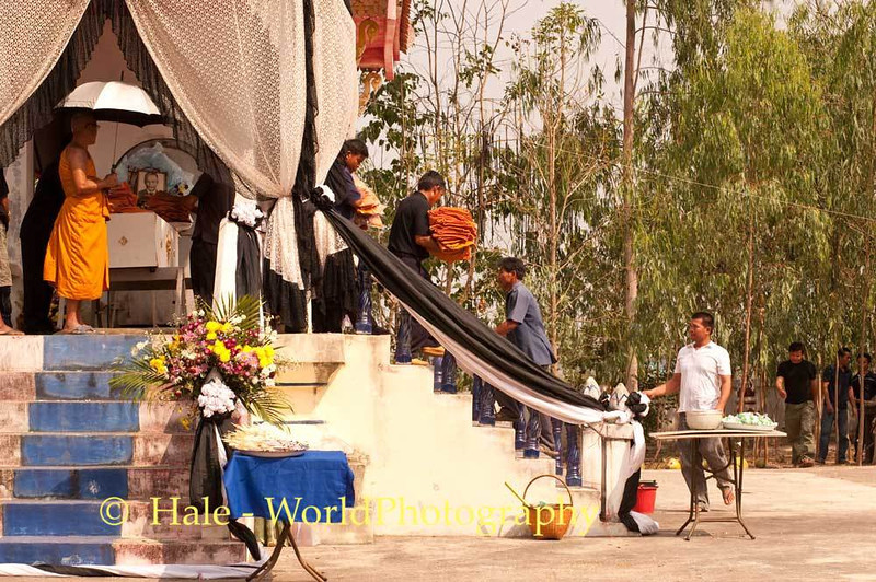 Offerings, In the Name of the Deceased, Are Carried Down from the Crematorium