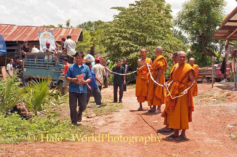Preparing To Walk to the Local Wat From the Deceased Person's Home