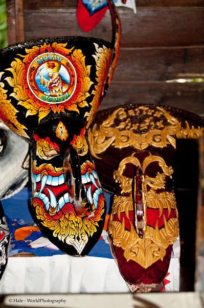 Phi Ta Khon Lek Mask, Dansai Folk Museum, Isaan, Thailand