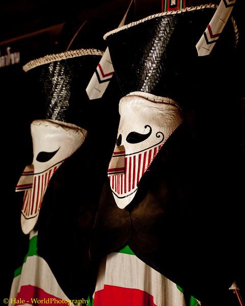 Phi Ta Khon Lek Masks, Dansai Folk Museum, Isaan, Thailand