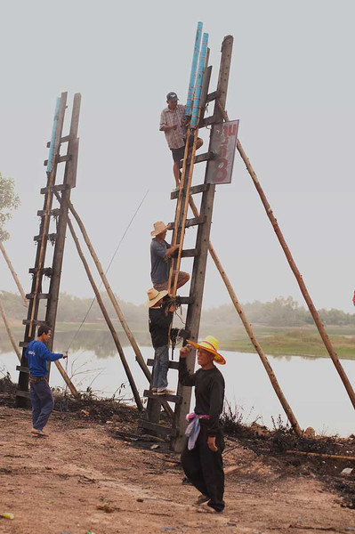 Mounting A Rocket For Launch in Baan That