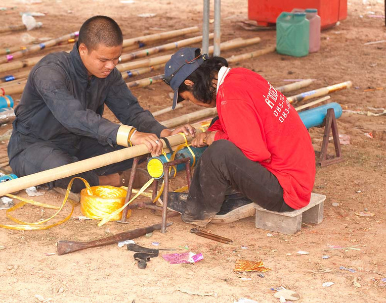 Making Last Minute Adjustments to a Rocket In Baan That