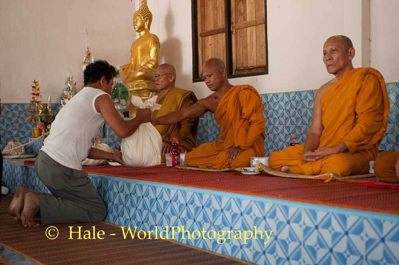 Giving Offerings to Monks