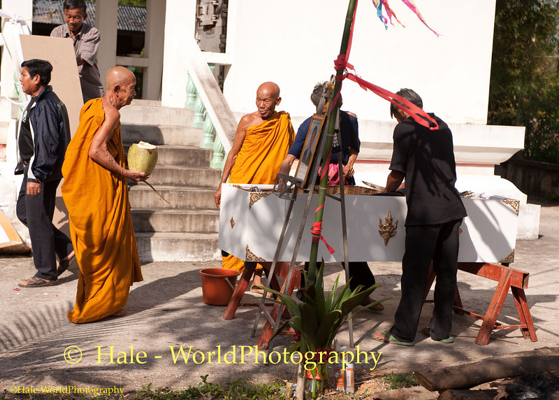 Monks Participating in the Funeral Ritual