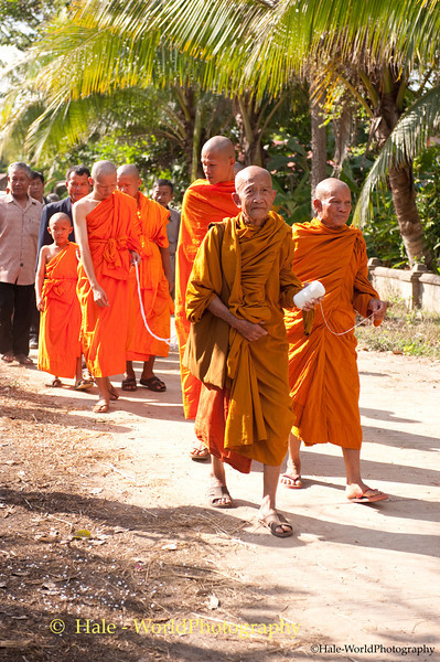Monks Lead the Funeral Procession