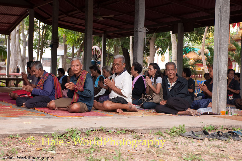 Villagers Participate In Merit Making Ritual As Part of the Funeral