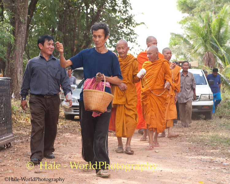 Offerings of Puffed Rice Are Thrown On the Ground Ahead of the Funeral Procession