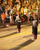 University Students Dancing In Asarnha Bucha Day Merit Making Ritual During Night Procession