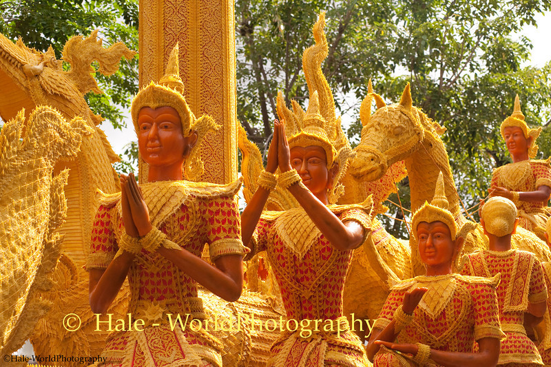 Wax Sculpture Based Upon the Ramakien, Ubon Ratchathani, Isaan Region of Thailand