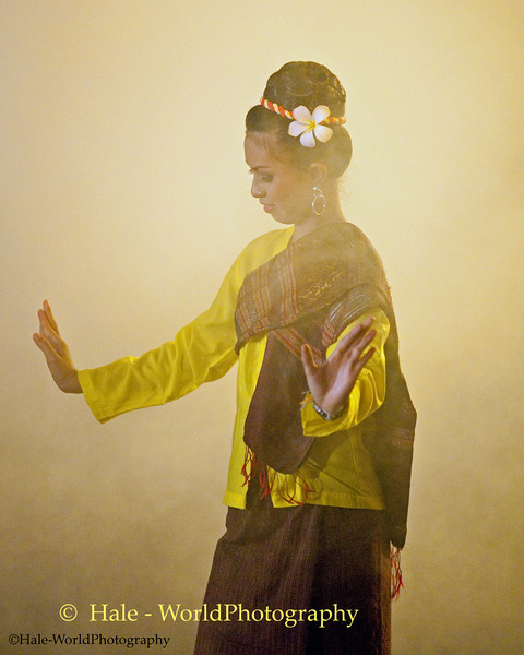 University Student Dancing In Asarnha Bucha Day Merit Making Ritual During Night Procession