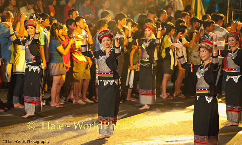 University Students Dancing In Asarnha Bucha Day Merit Making Ritual During Night Procession