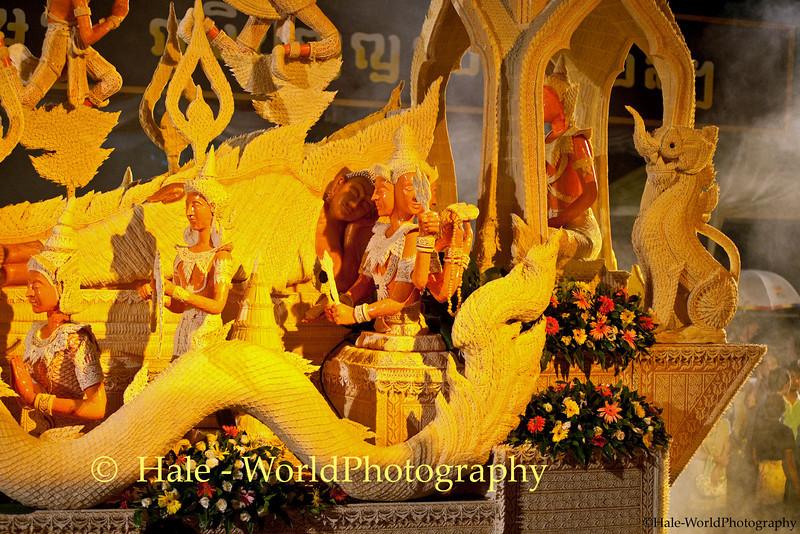 Wax Sculpture Based Upon the Ramakien, Ubon Ratchathani, Isaan Region of Thailand