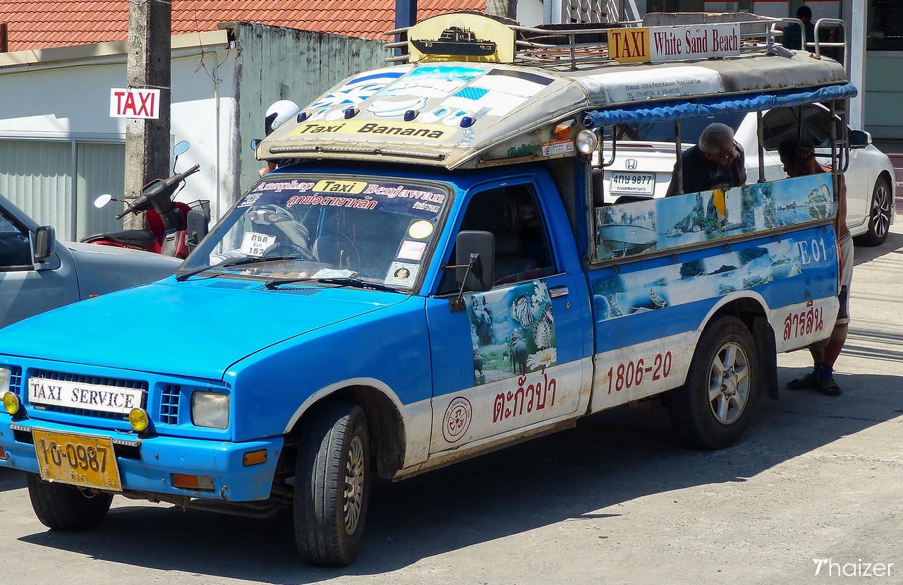 Khao Lak taxi songthaew