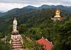 Buddha and a Guan-yin Chinese Goddess statues, Wat Bang Riang