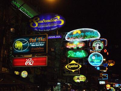 Signs, Khao Sarn Rd, Bangkok, Thailand