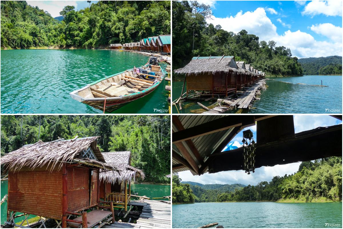 Tone Toey floating bungalows at Cheow Larn Lake, Khao Sok