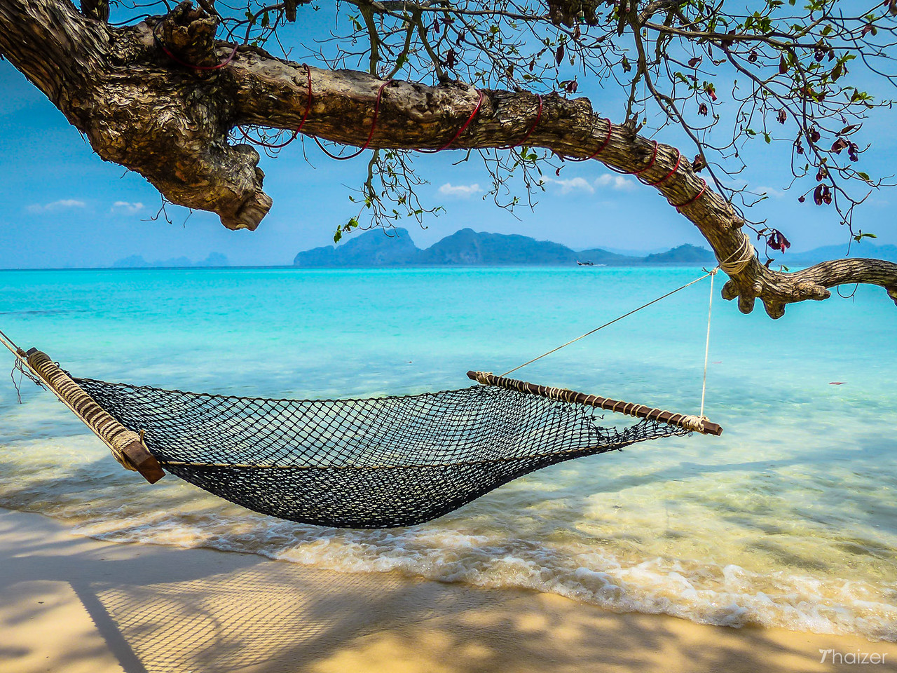 lazy days on a Thai island - hammock on Ko Kradan