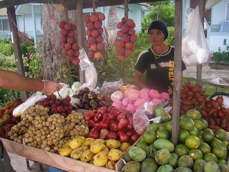 Typical fruits in Thailand
