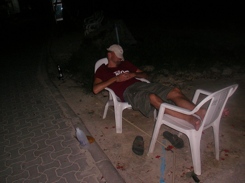 Marc sleeping in peace after the French defeated the Portuguese in world cup semi